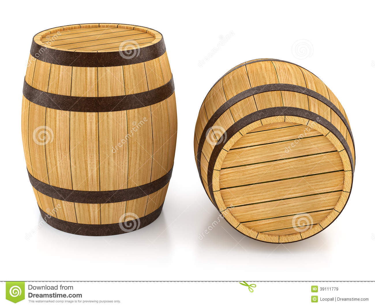 Wooden barrels for wine and beer storage stock - Barriles de vino ...