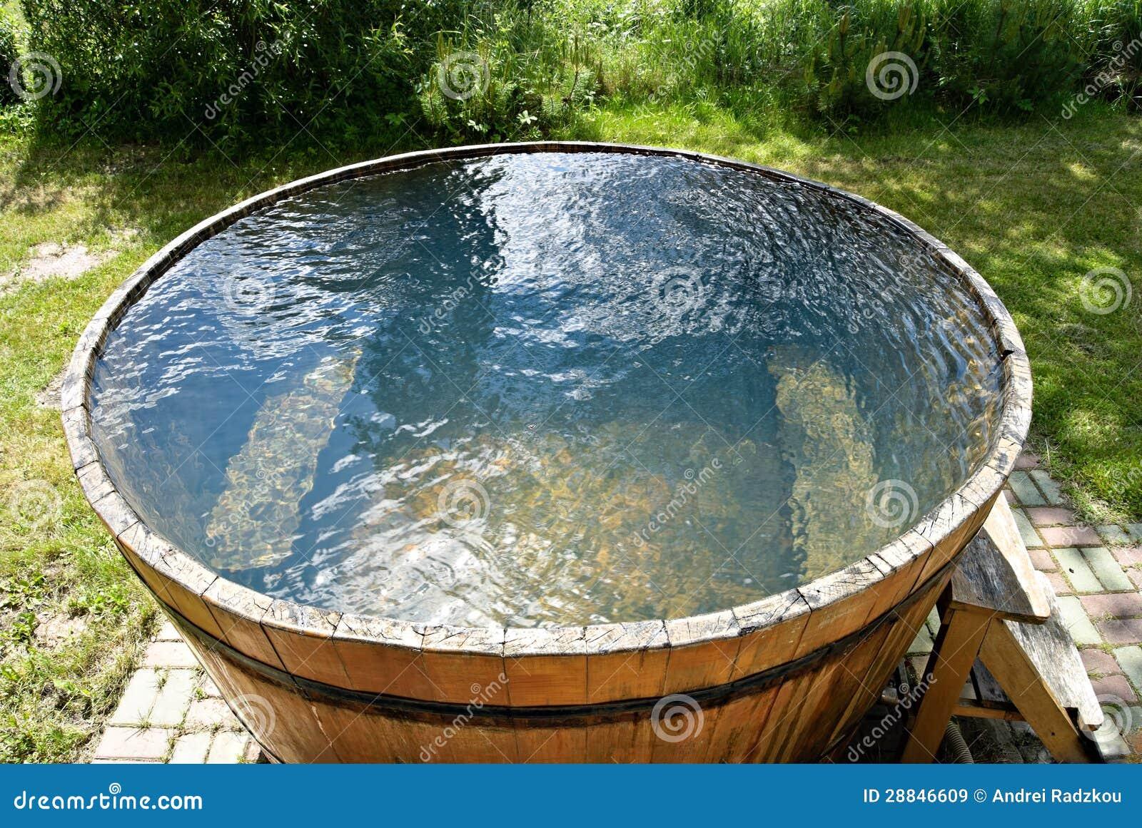 Wooden Bathtub Wooden Bathtub Royalty Free Stock Images Image 28846609