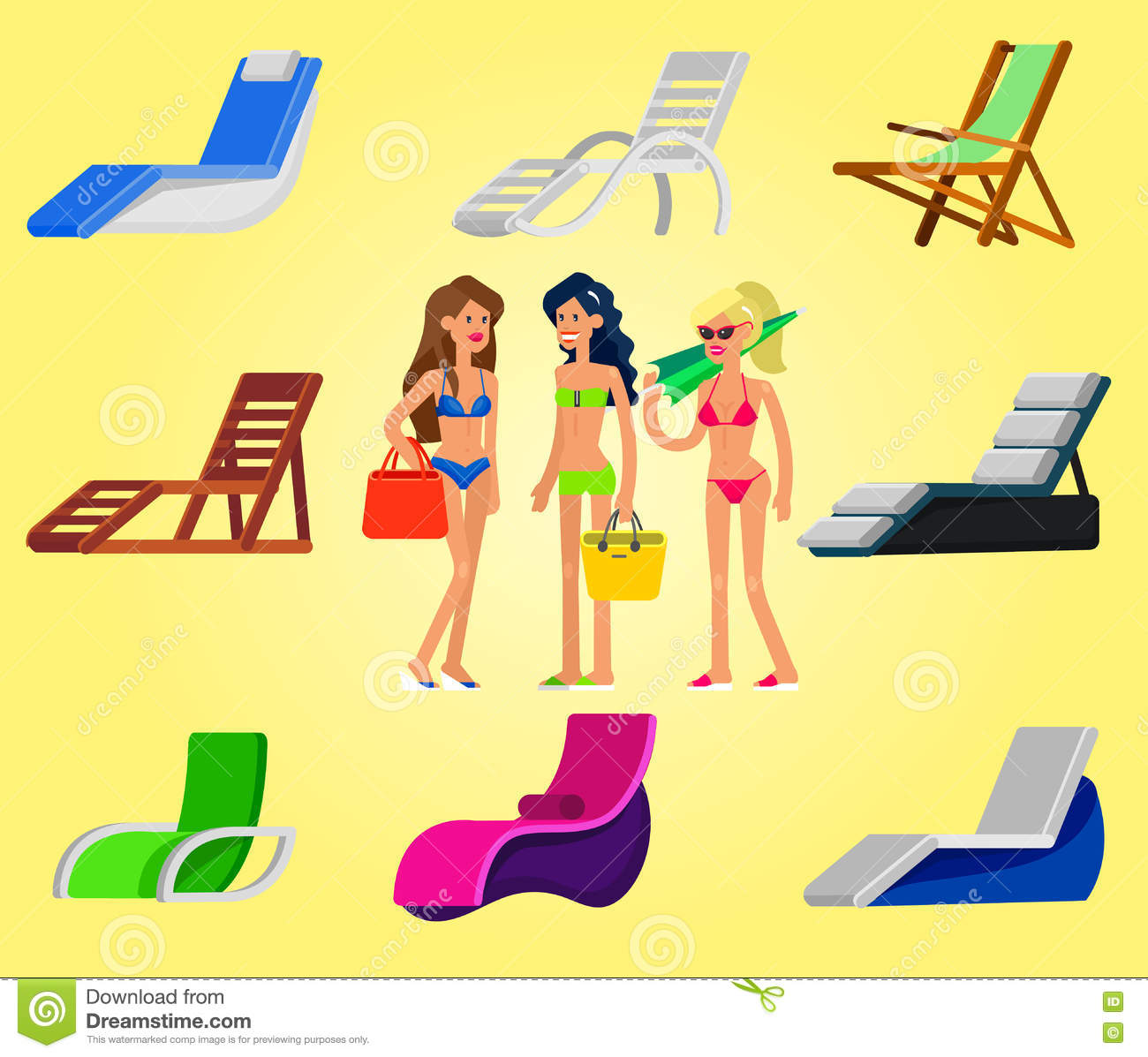 Wooden beach chaise longue stock vector. Illustration of accessory on chaise sofa sleeper, chaise recliner chair, chaise furniture,