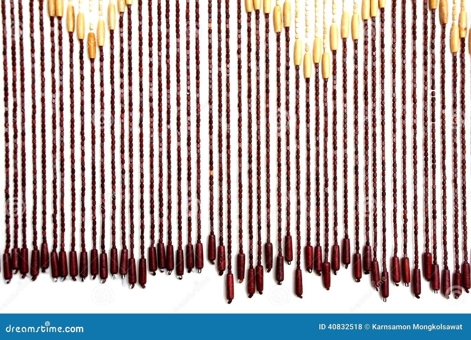 Wooden Bead Curtain Stock Photo - Image: 40832518