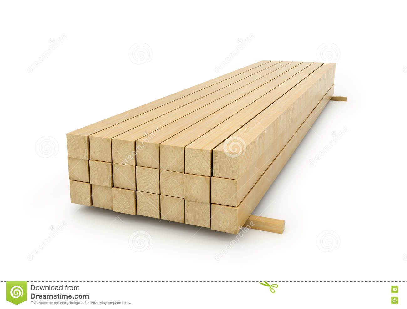 Wooden beams for the building