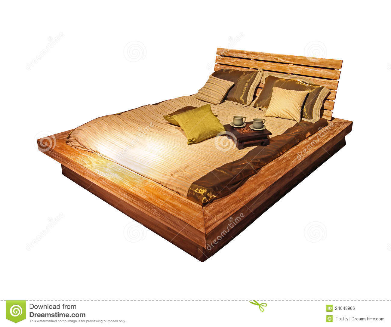 Very Impressive portraiture of Wooden Bed Isolated Royalty Free Stock Image Image: 24043906 with #AD751E color and 1300x1087 pixels