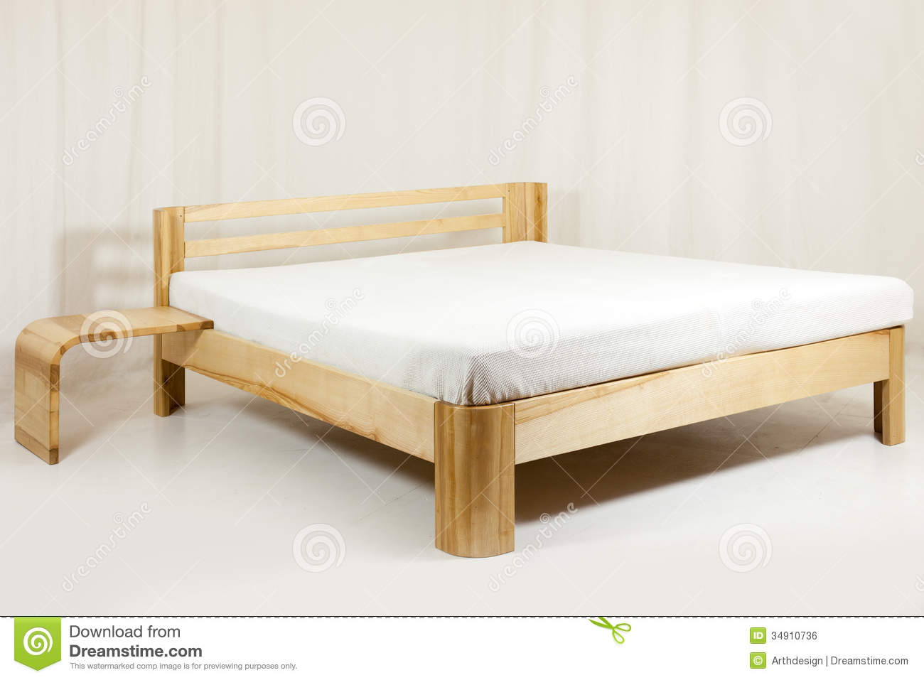 Wooden Bed Stock Photo Image Of Design Natural
