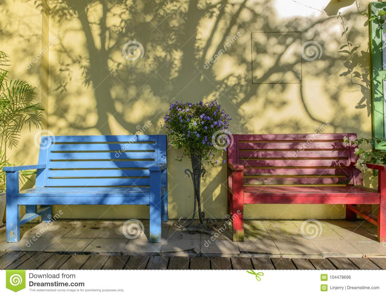 Terrific Wooden Bench Against A White Wall Stock Photo Image Of Caraccident5 Cool Chair Designs And Ideas Caraccident5Info