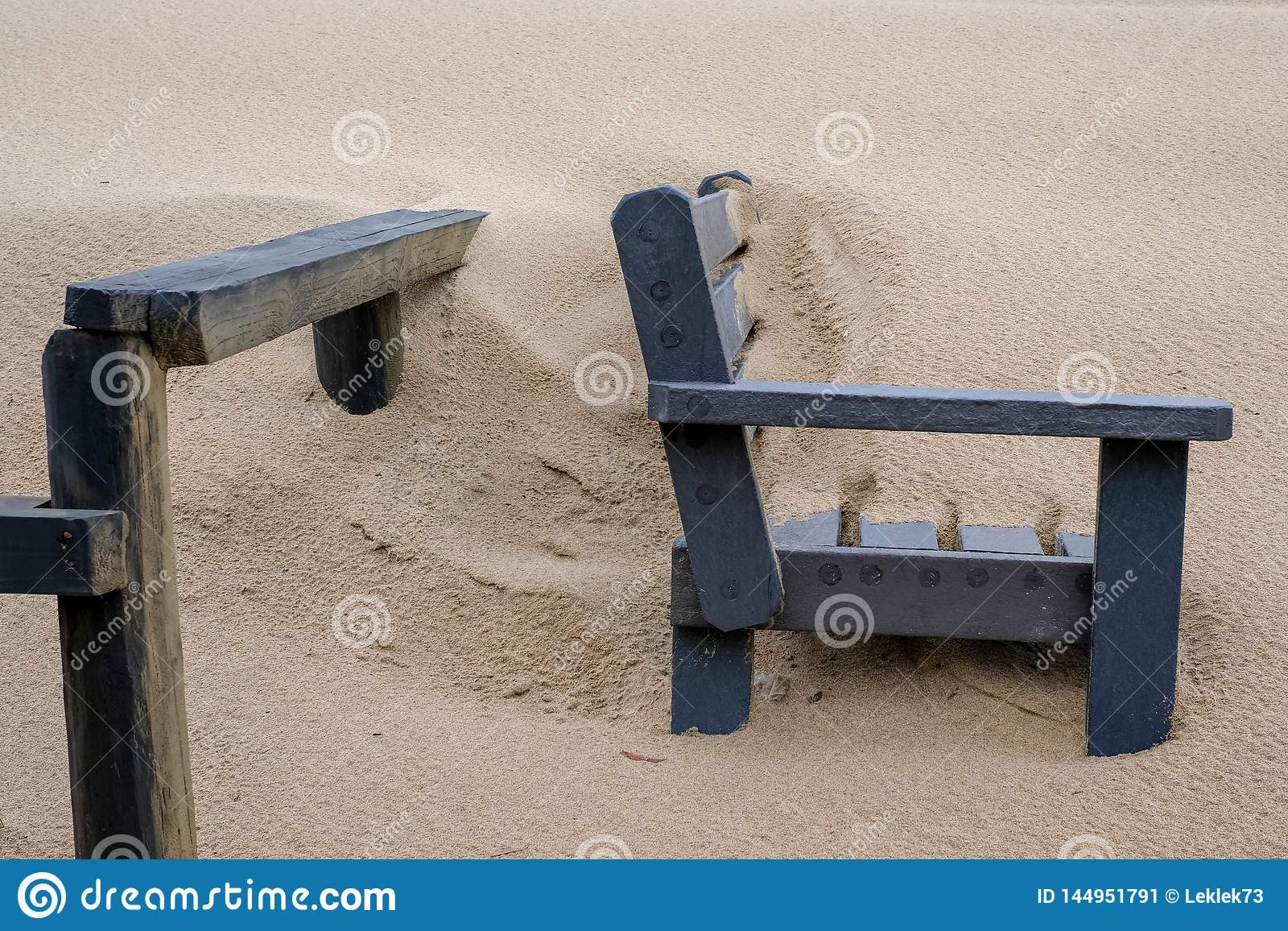 Strange Wooden Bench Covered In Sand On The Beach At Boggams Bay On Beatyapartments Chair Design Images Beatyapartmentscom
