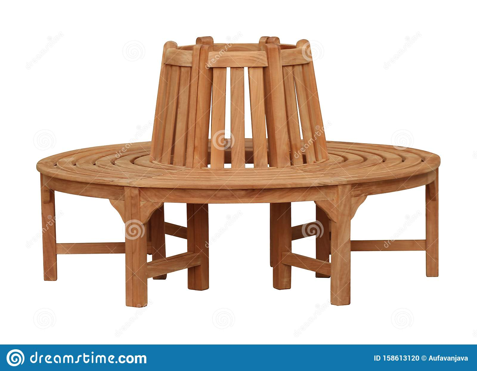Wooden Bench Furniture For Outdoor Or Park Furniture Stock ...