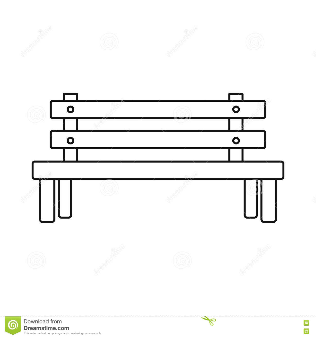 bench outline