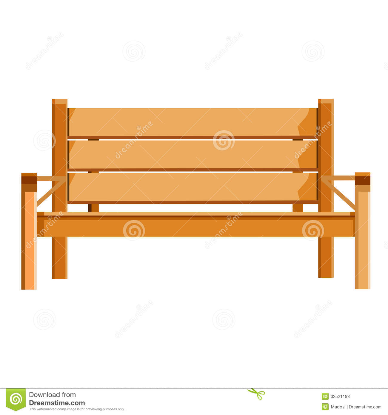 Wooden Bench Isolated Illustration Royalty Free Stock Photos - Image ...