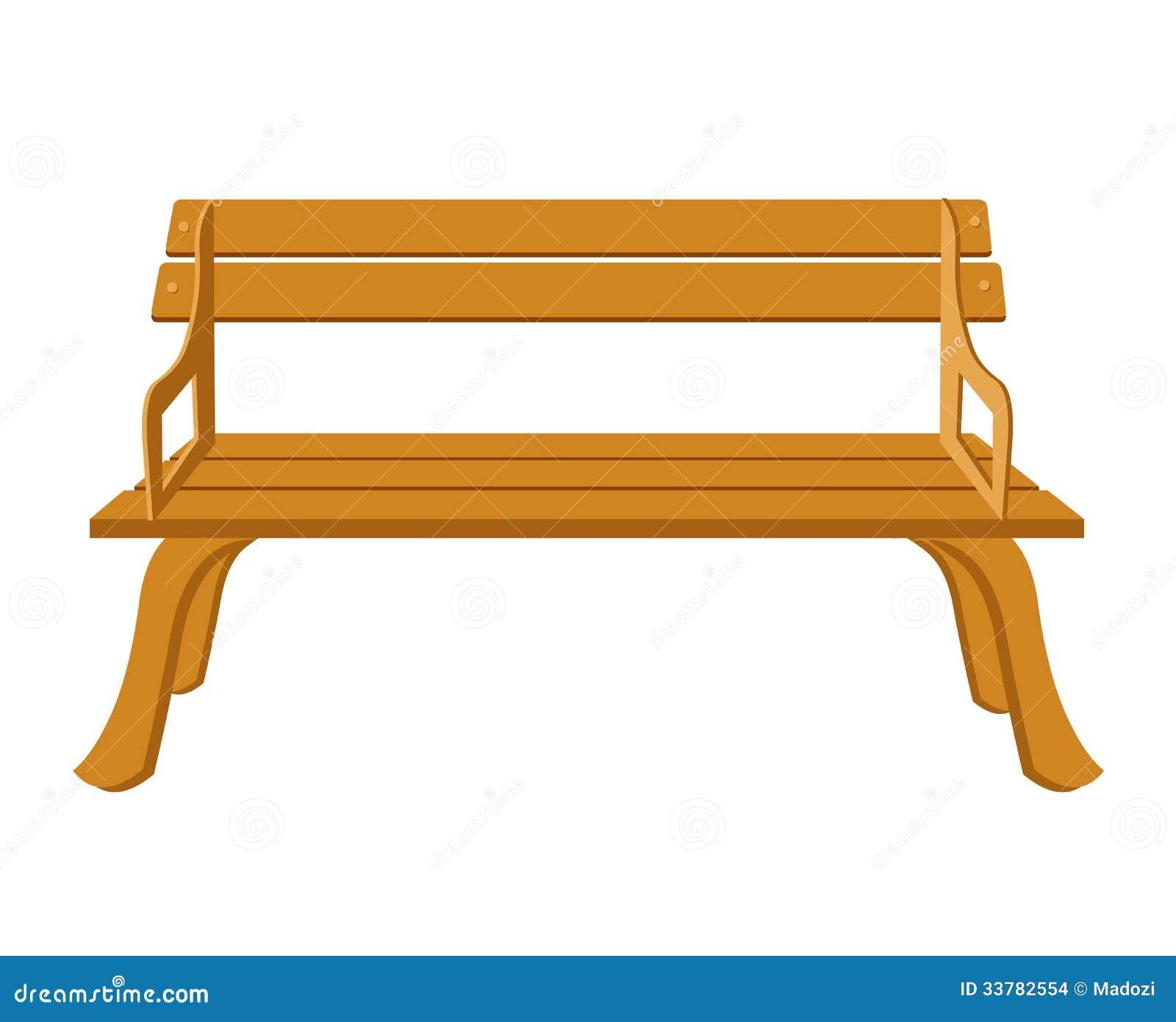 Cartoon Wooden Bench Empty garden bench stock illustrations, vectors ...