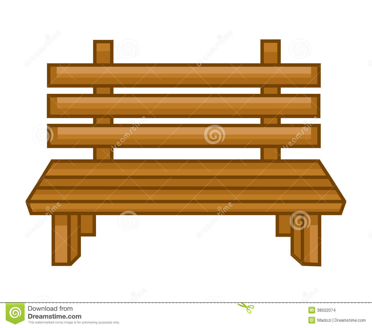 Wooden Bench Isolated Illustration Stock Images - Image: 38502074