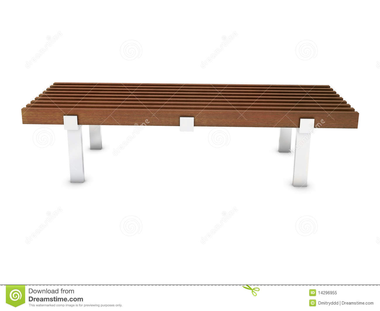 Wooden Bench With Metal Foot In The Park Royalty Free Stock Photo ...