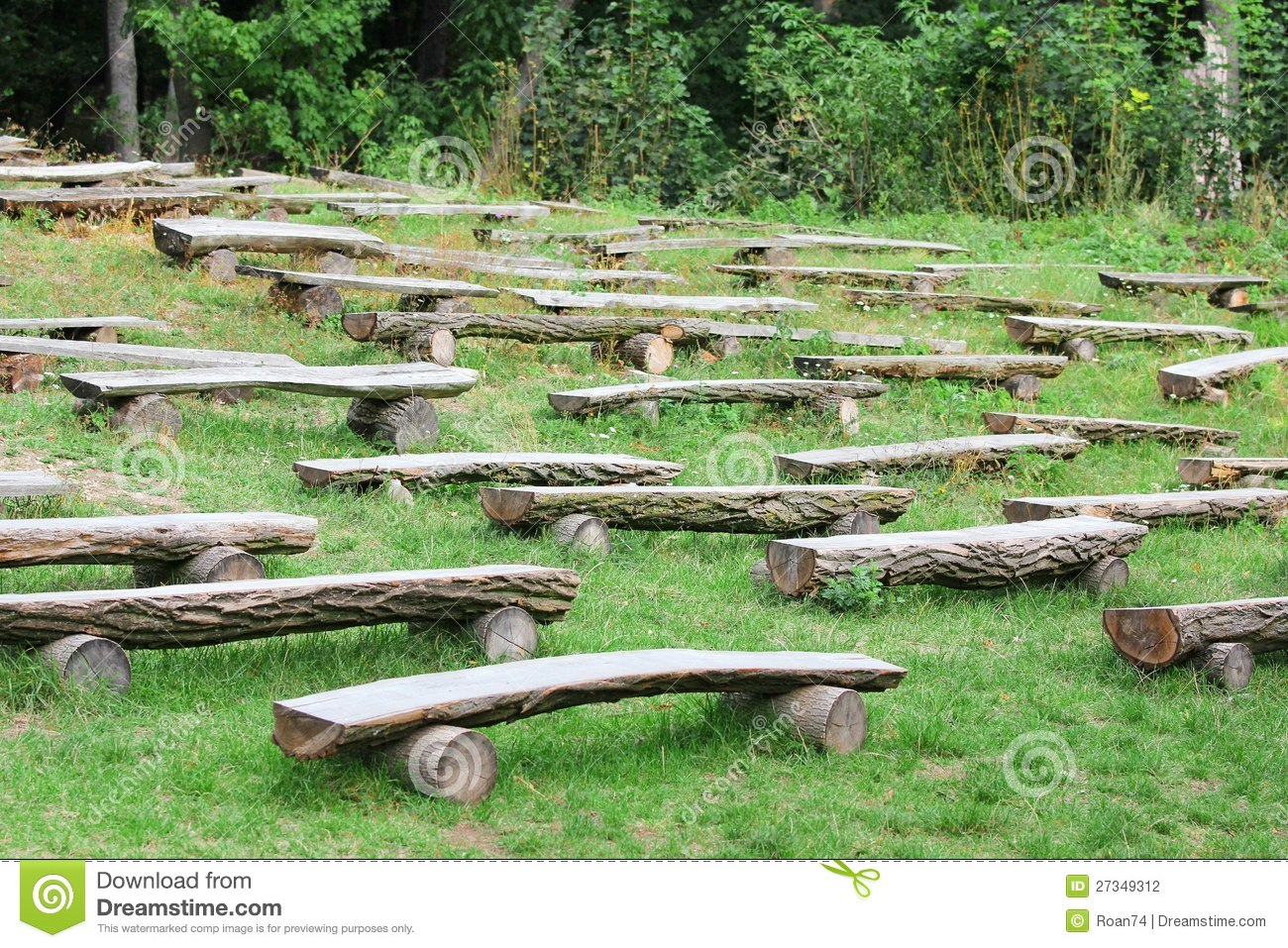 Wooden benches stock photo. Image of entertainment ...