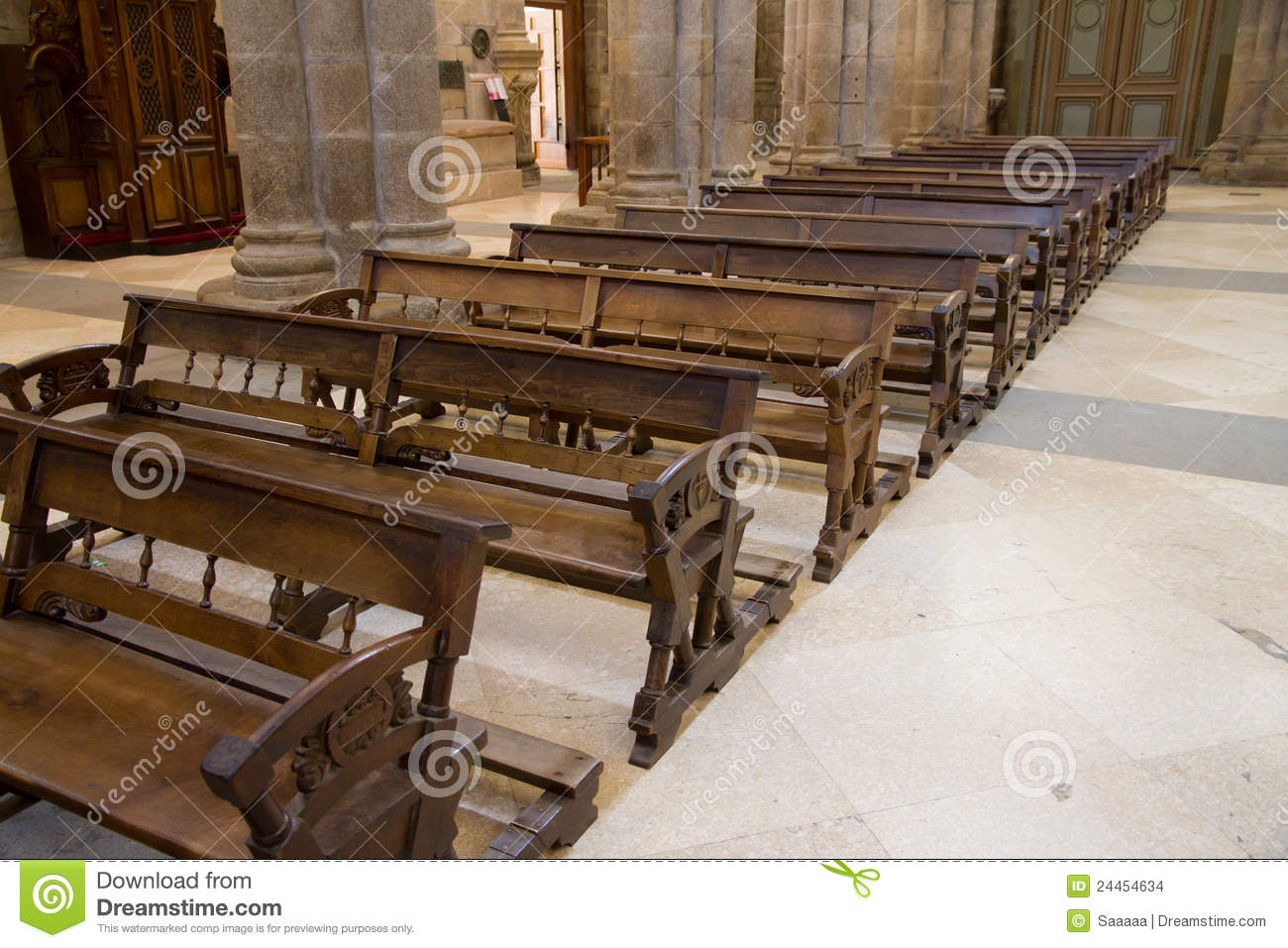 Swell Wooden Benches Of Church Stock Photo Image Of Wide Camellatalisay Diy Chair Ideas Camellatalisaycom