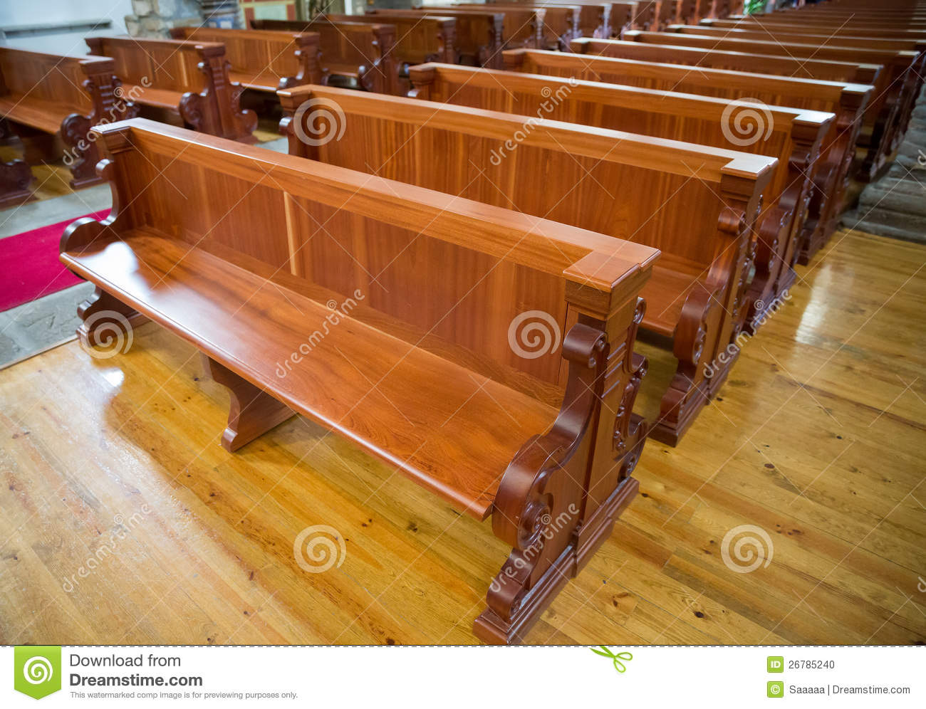 Awe Inspiring Wooden Benches Of Church Stock Photo Image Of Bench 26785240 Camellatalisay Diy Chair Ideas Camellatalisaycom