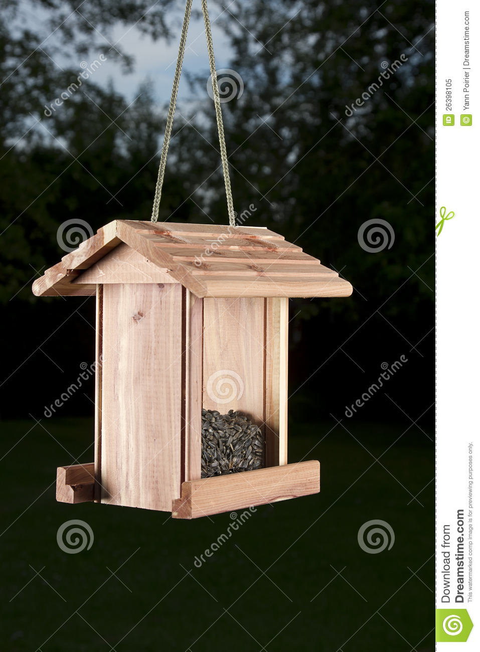 photo a house on bird hand standing two wooden pole creative feeder with stock doves made depositphotos