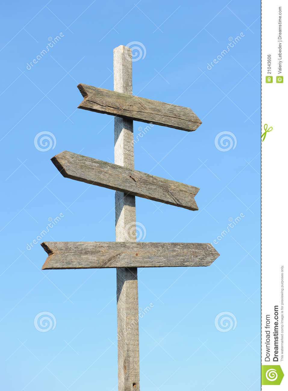 Wooden Blank Sign Post Royalty Free Stock Image - Image ...