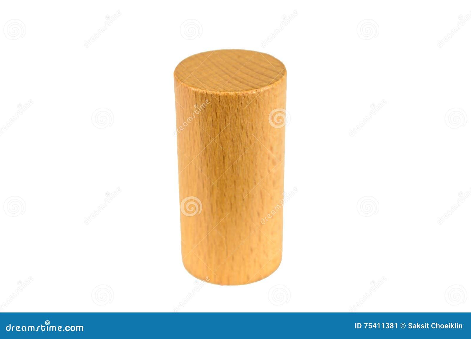 Wooden Block Cylinder Shape Stock Image - Image: 75411381
