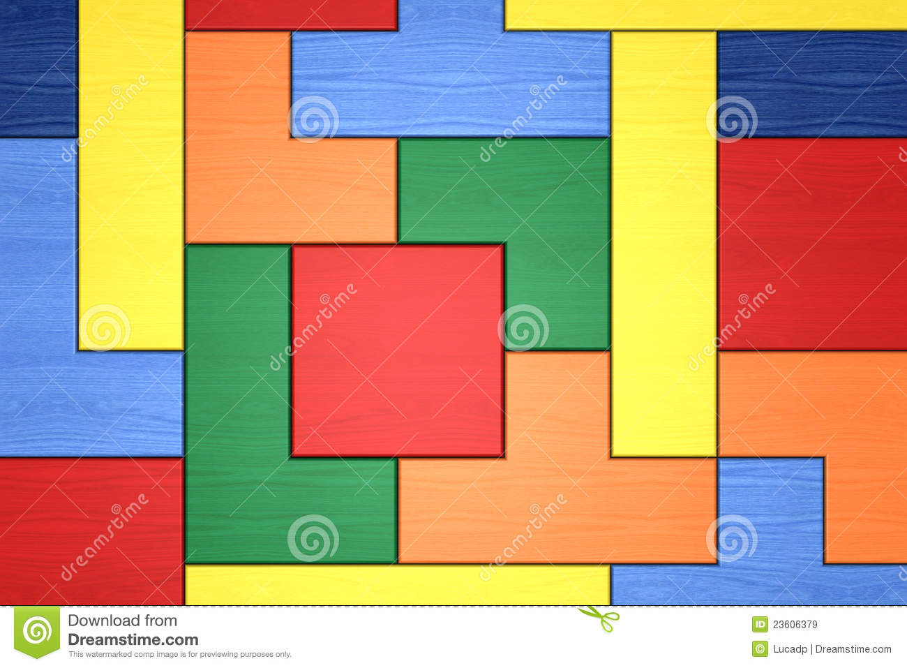 Wooden Block Puzzle Stock Illustration Illustration Of Concept