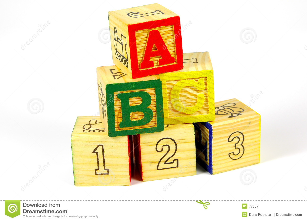 wooden blocks stock image image of preschool play. Black Bedroom Furniture Sets. Home Design Ideas