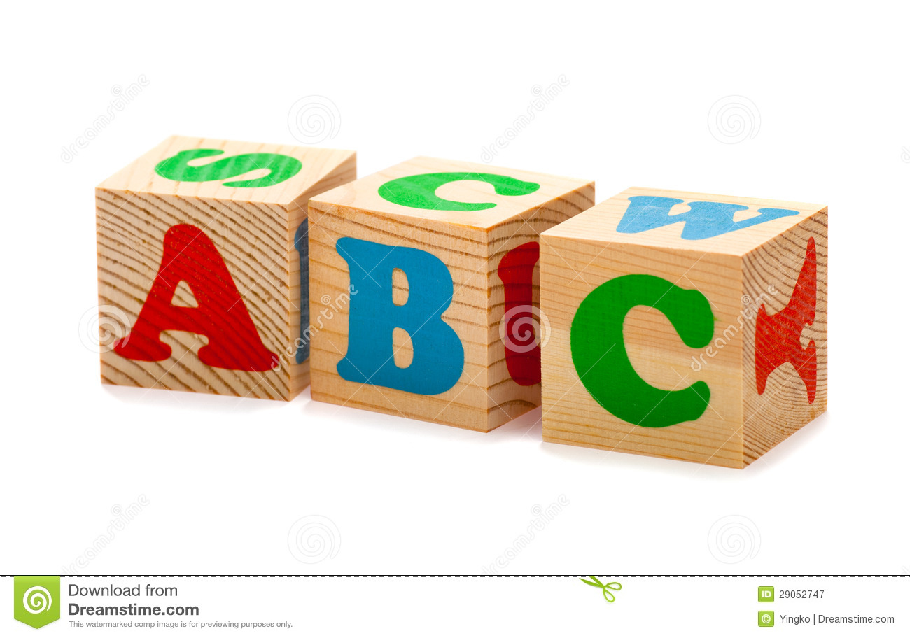 Wooden Blocks With ABC Letters Royalty Free Stock Photography - Image ...