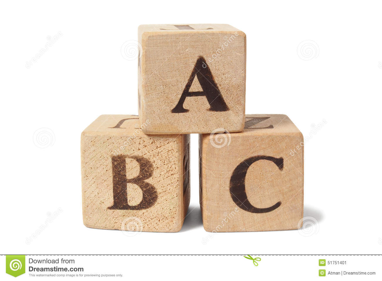 wooden blocks with abc letters stock photo image 51751401 With blocks with letters on them