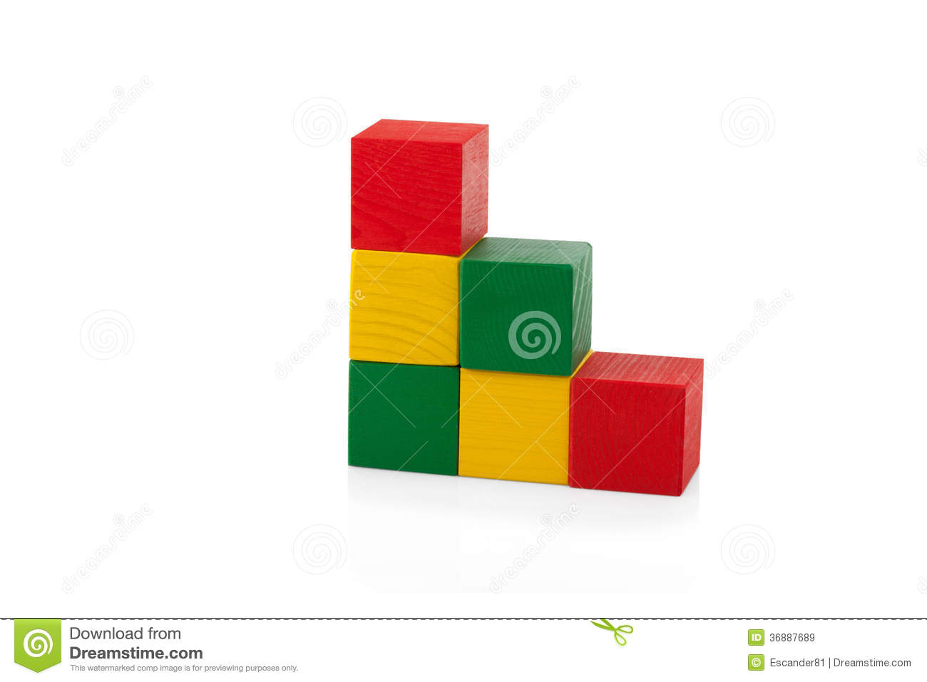 Wooden Blocks, Stack Of Colorful Cubes, Childrens Toy ...
