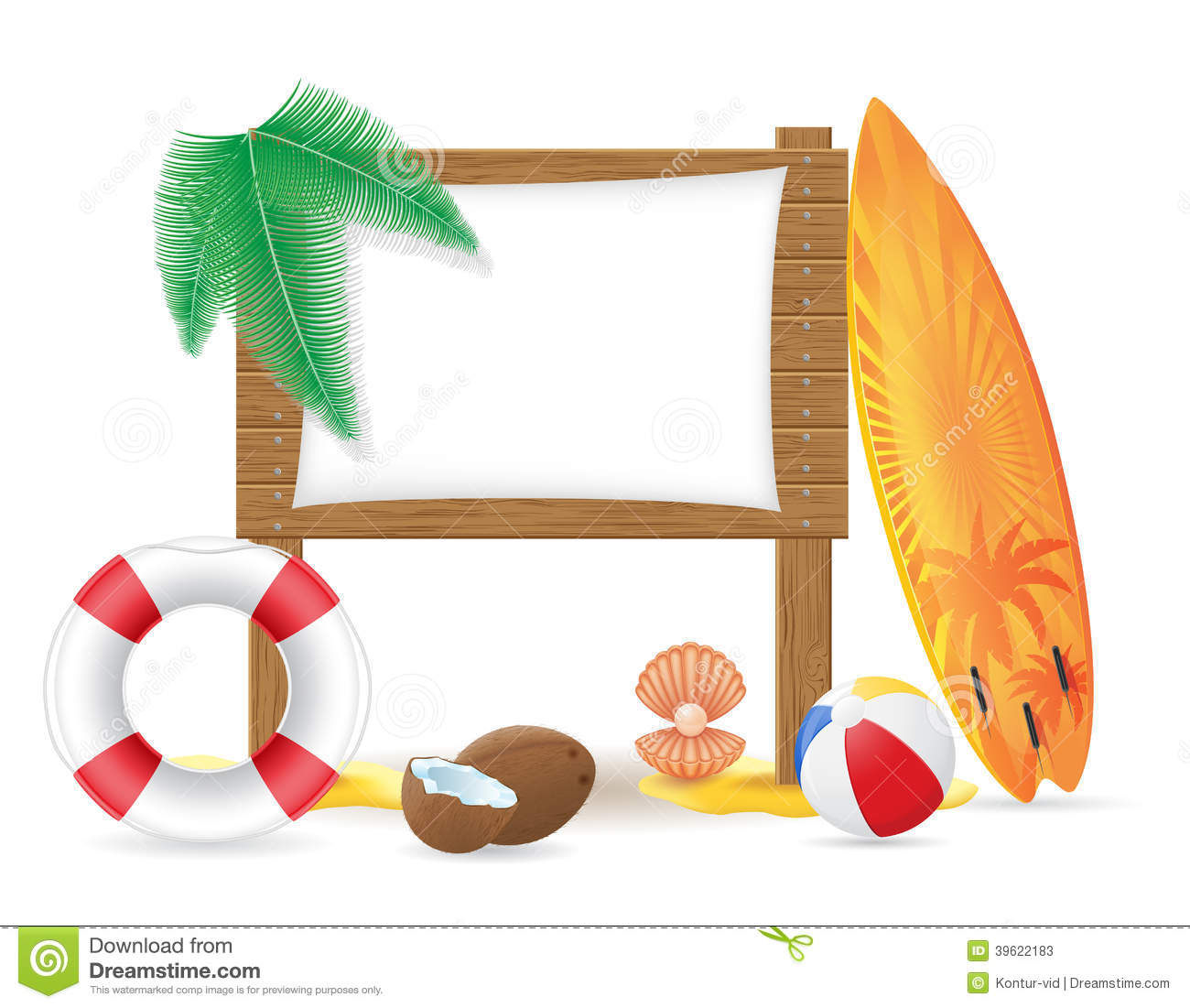 wooden board with beach icons vector illustration stock free hawaiian clip art frames free hawaiian clip art pictures