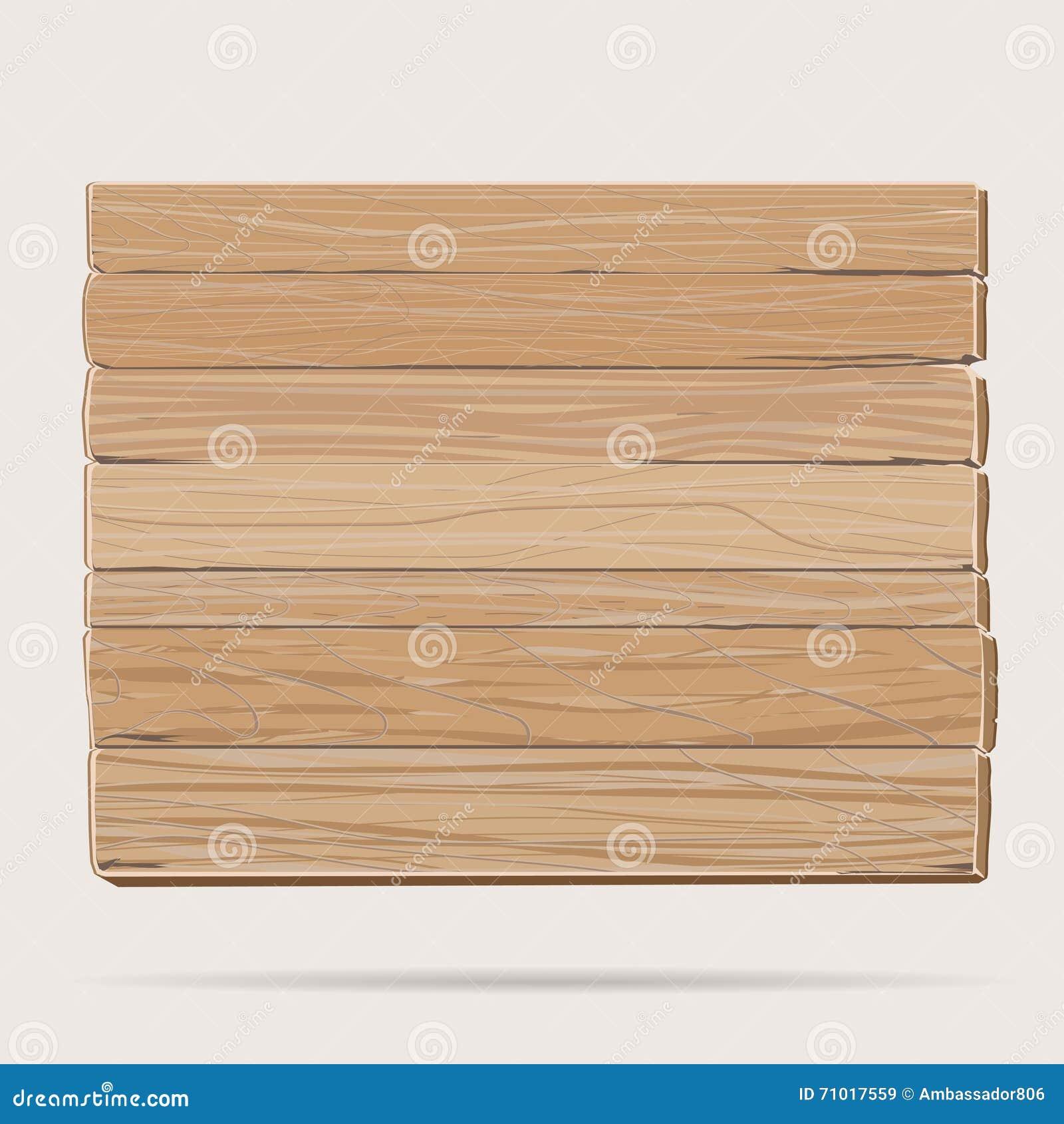 Cartoon Wood Board ~ Wooden board cartoon stock vector image