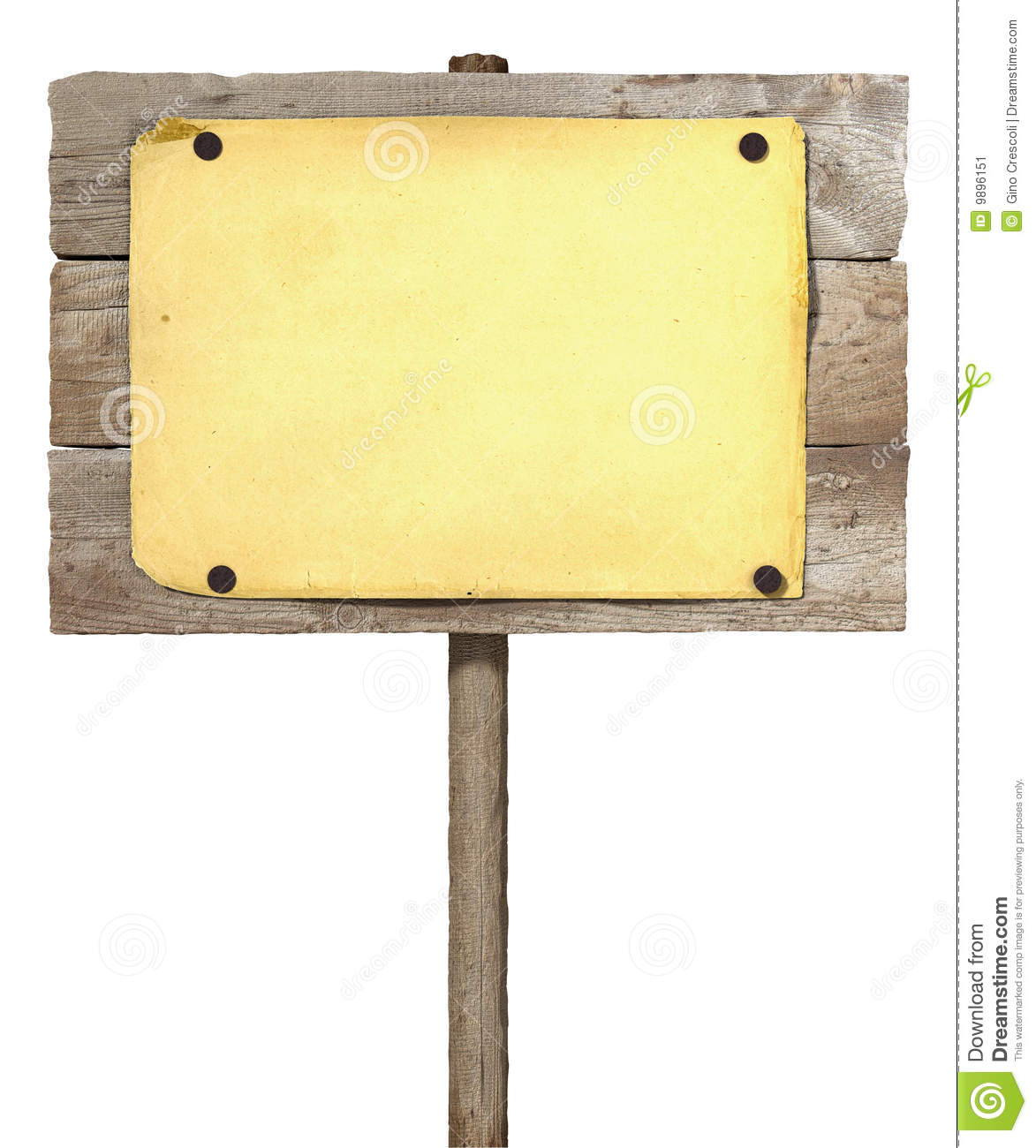 Wooden board sign stock image