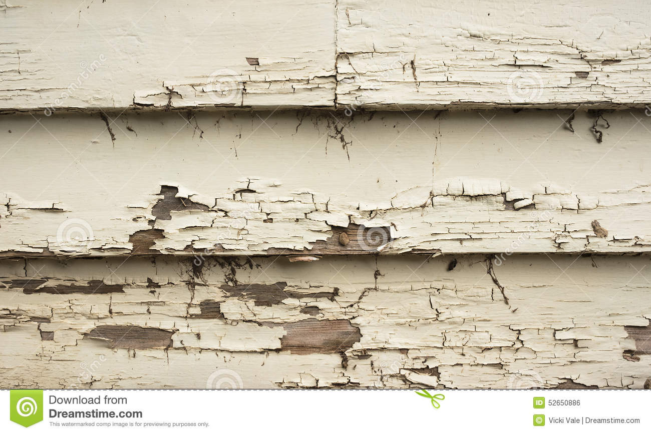 Wooden Boards Cracked Peeling Paint