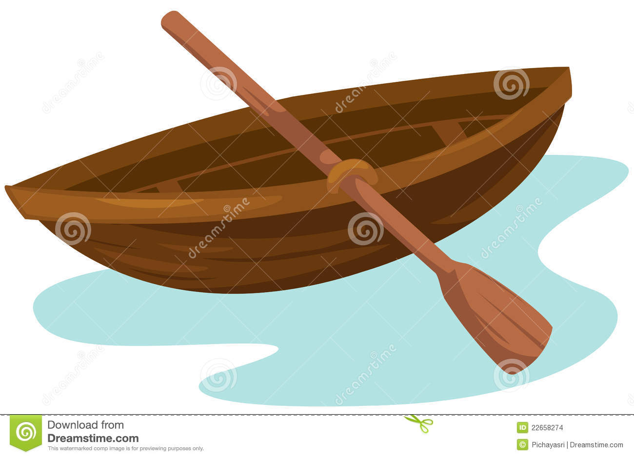 Wooden Boat Stock Vector Illustration Of Sailing Seasonal