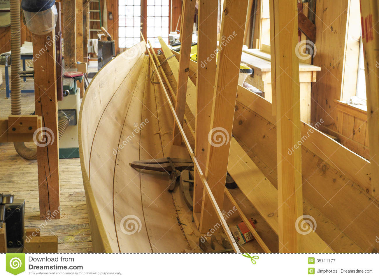 A Wooden Boat Being Built Royalty Free Stock Photography - Image: 35711777