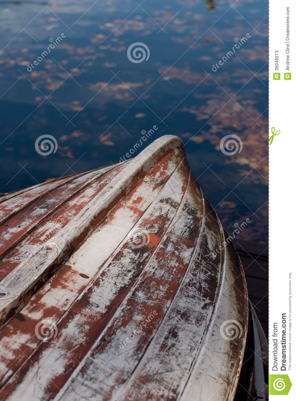 Wooden Boat Hull by Water stock image. Image of water - 36049513