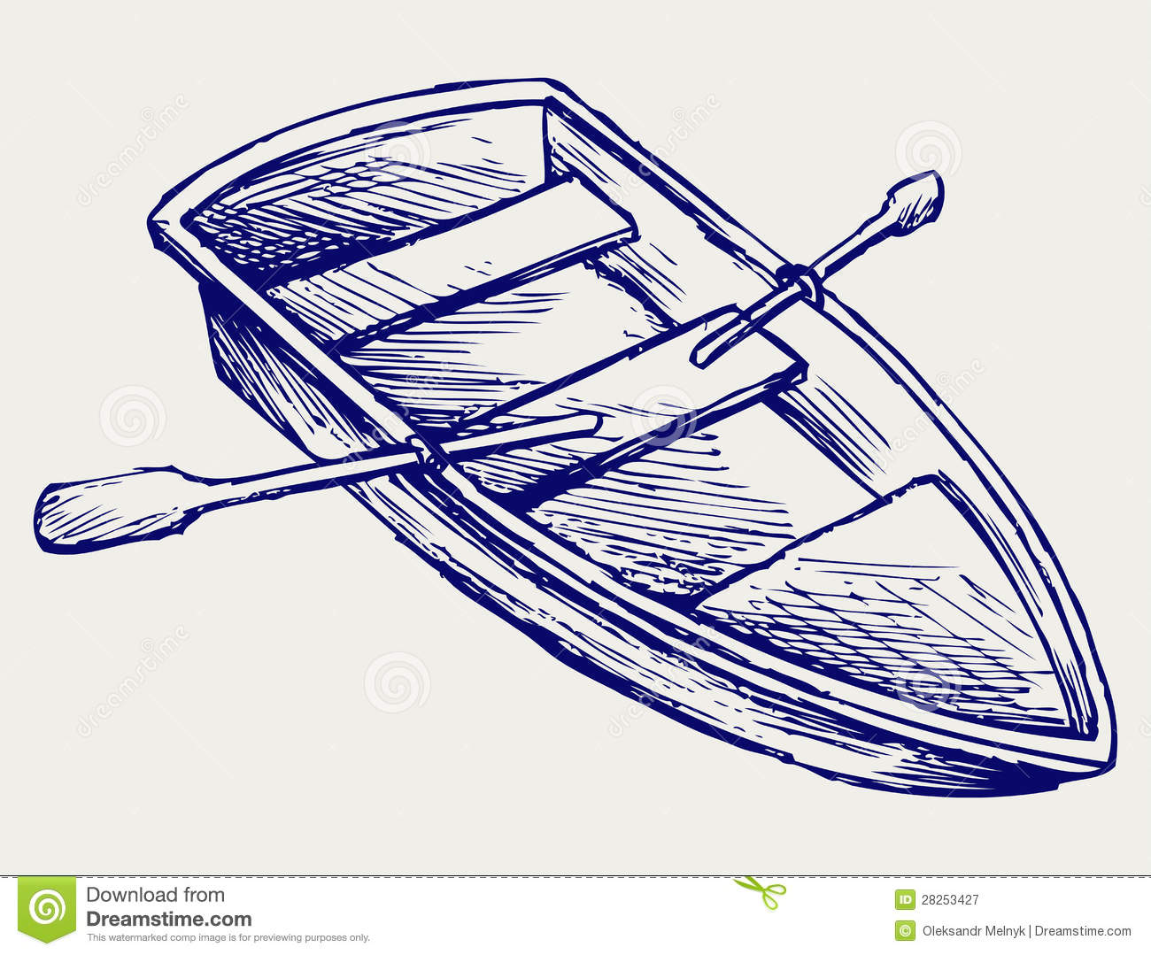 Wooden Boat With Paddles Royalty Free Stock Photography - Image: 28253427