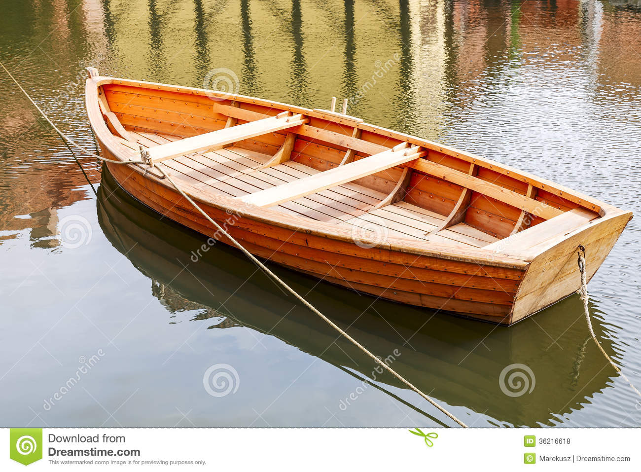 Small Wooden Boats : Wooden boat stock photo image of hawser loneliness