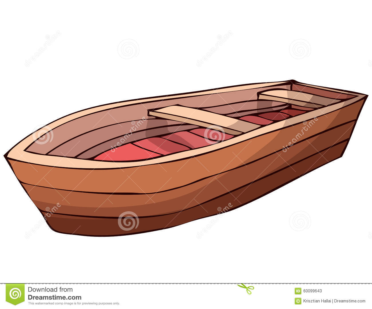 Wooden Boat. stock vector. Image of beach, campfire, ripple - 60099643