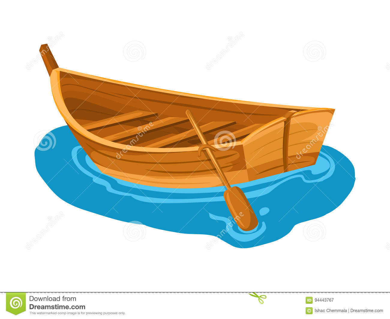 Wooden Boat Stock Illustrations