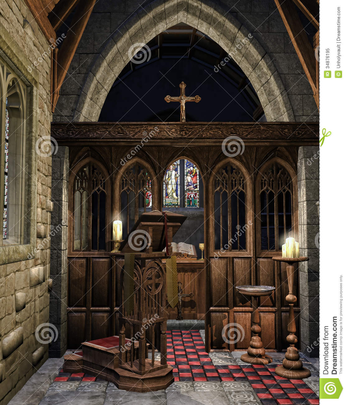Wooden Book Stand In A Church Royalty Free Stock Photo - Image ...
