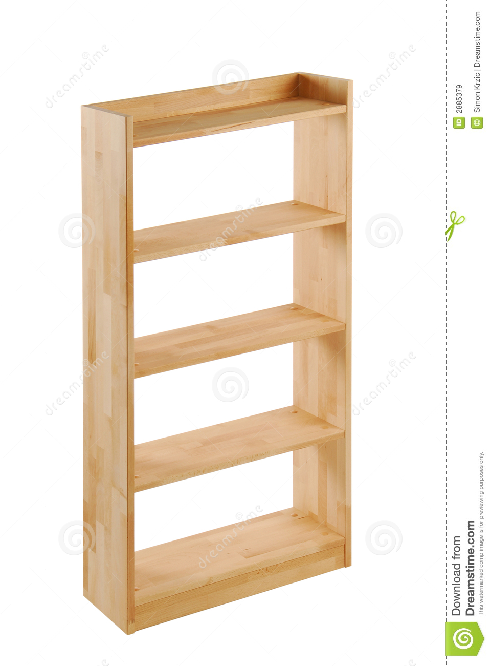 Wooden Bookcase Royalty Free Stock Images - Image: 2885379