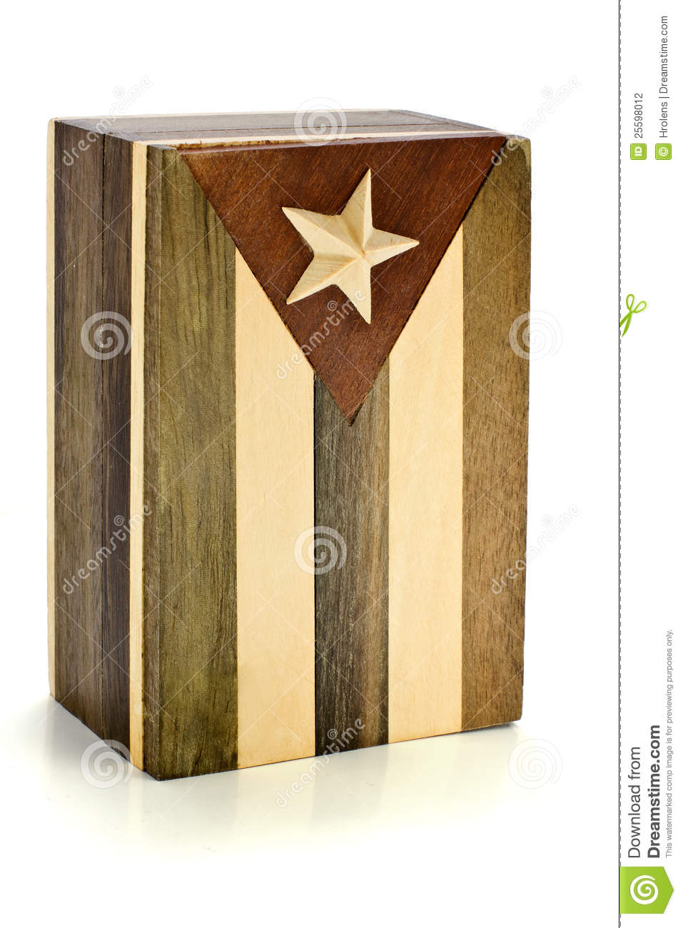 wooden box cuban flag stock photography