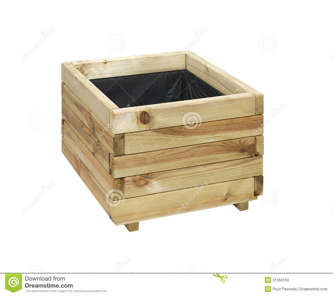 Wooden box for flowers stock photo. Image of storage ...
