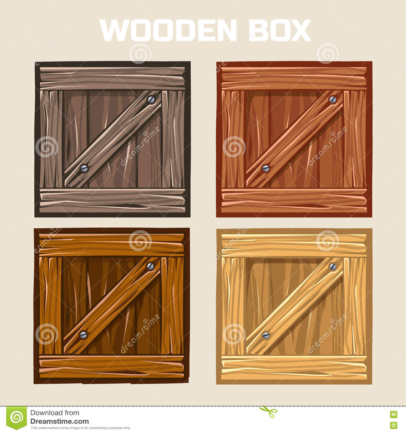 Wooden Box, Game Element Stock Vector - Image: 71508134
