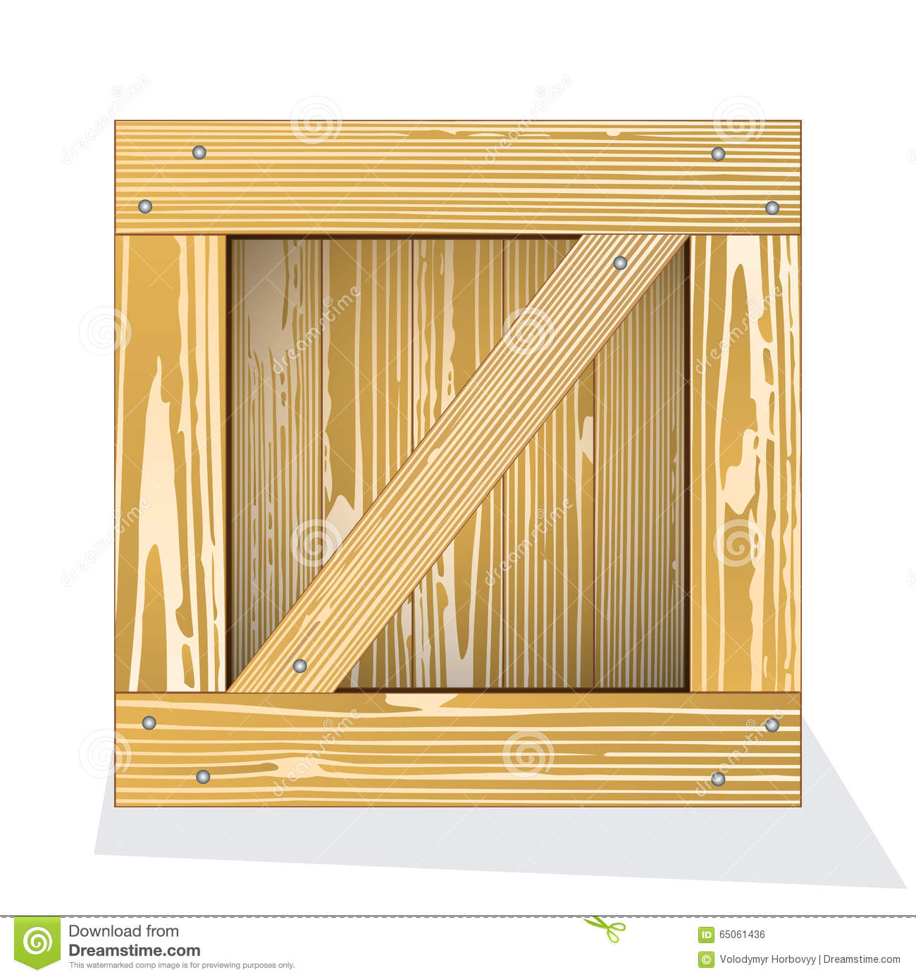 Wooden box icon stock vector. Image of isolated, pine ...