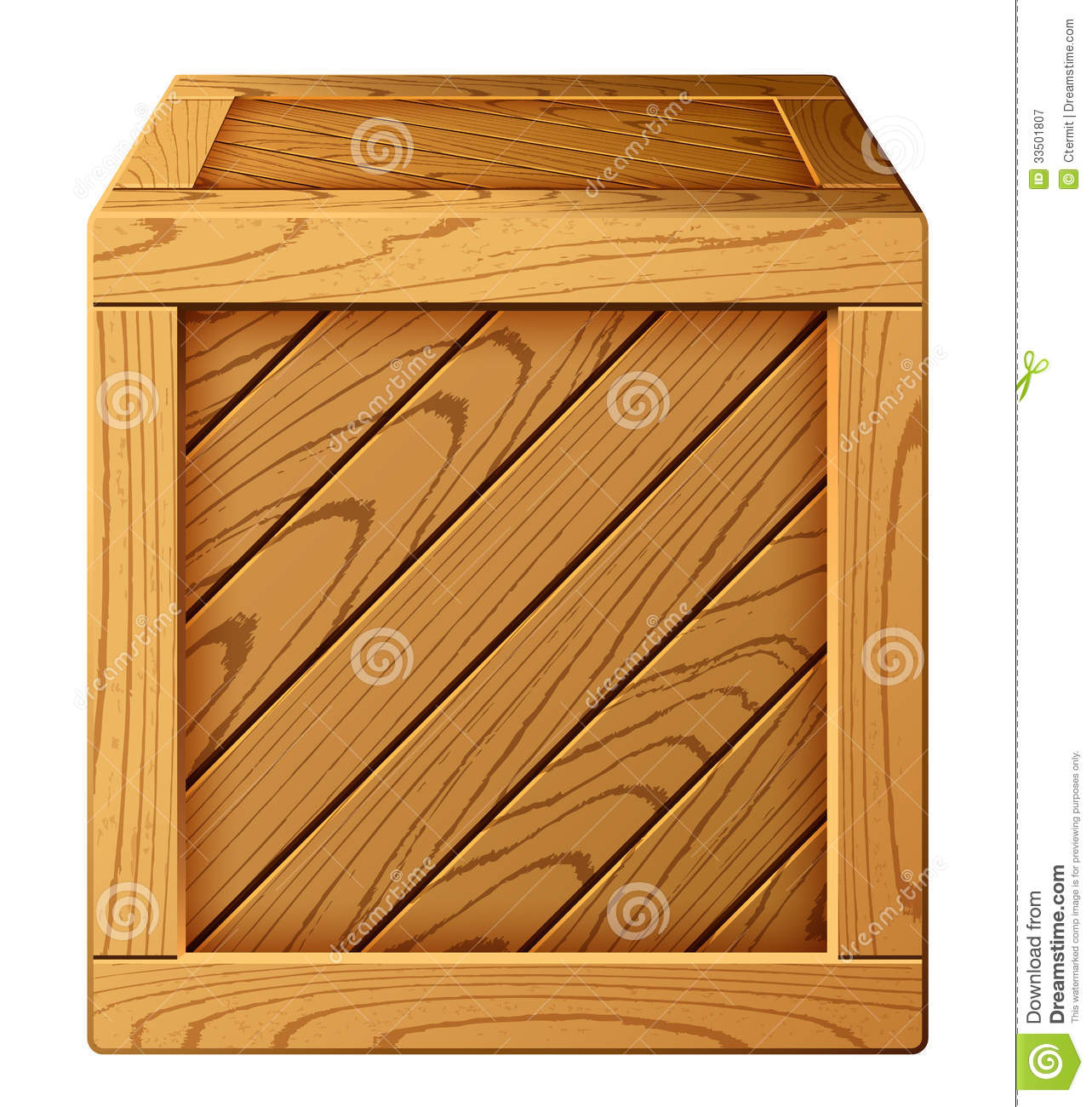Wooden box stock vector. Image of icon, import, pine ...