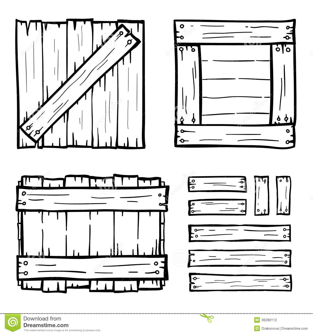 Wooden Boxes Stock Photography Image 36280112