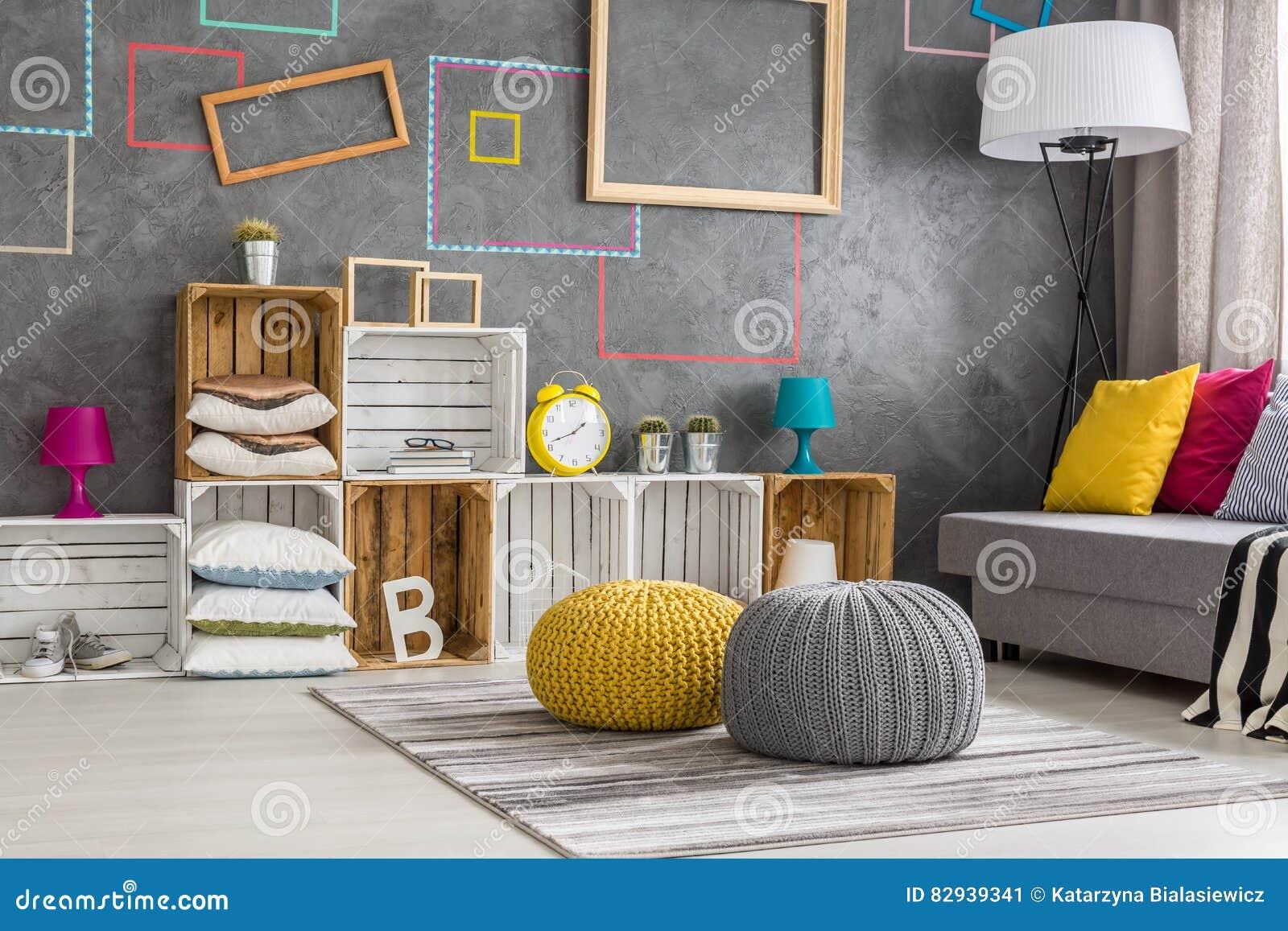 Boxes Living Modern Room Shelf
