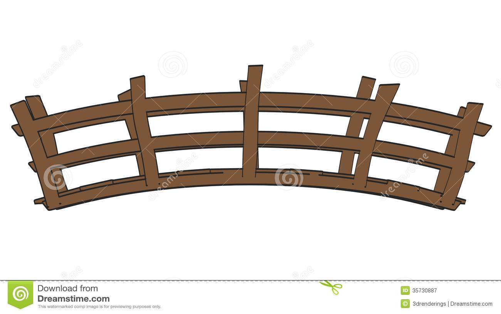 Wooden Arch Bridge Clipart Wooden bridge royalty free