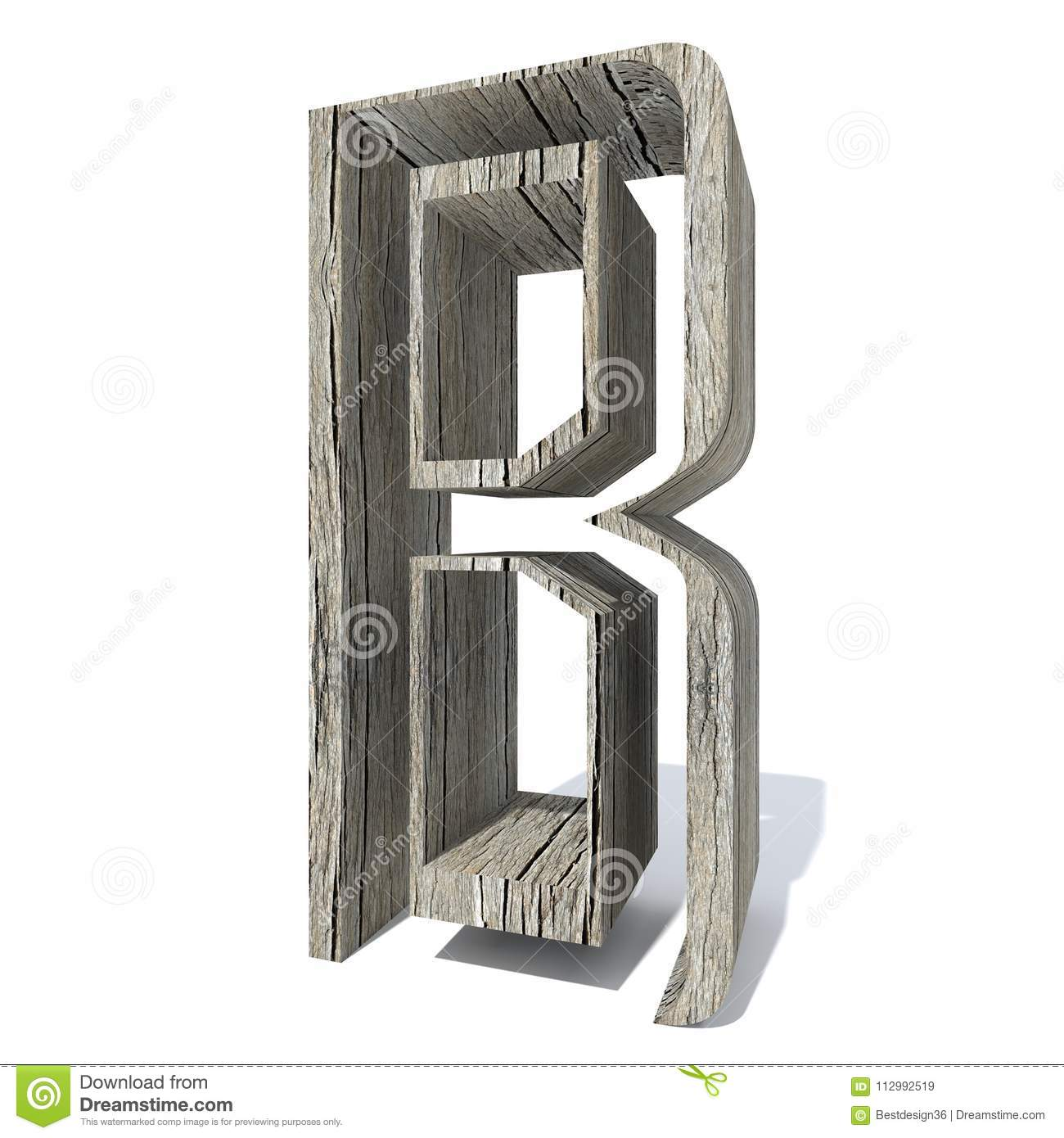 Wooden brown font or type, timber or lumber industry