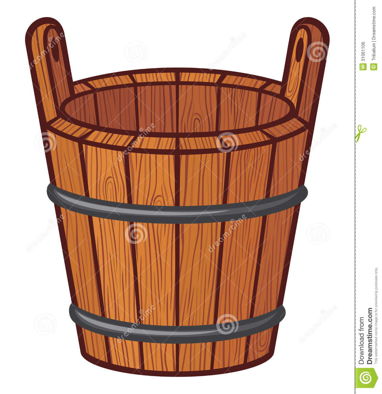 Wooden Bucket Royalty Free Stock Image  Image: 31061106