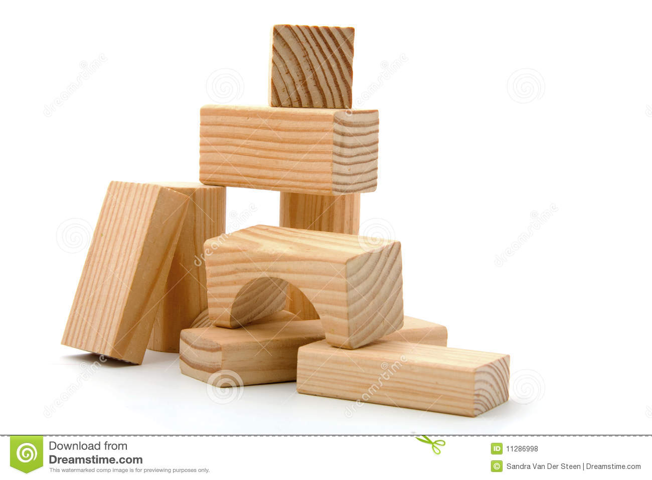 Wooden Building Blocks Royalty Free Stock Photos - Image: 11286998